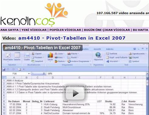 Excel-Video-Statistik